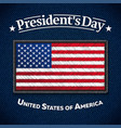 happy presidents day greeting card usa flag on vector image