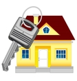 House and key vector image vector image