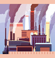 industrial pollution polluted environment vector image vector image