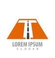 initial letter t road font concept design symbol vector image vector image