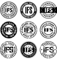 International food standard stamp vector image