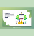 landing page template buy now modern flat vector image