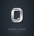 Letter Q elegant silver font Template for company vector image vector image