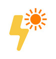 light and sun icon sun energy label for web on vector image vector image