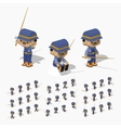 Low poly fisherman vector image