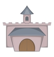 Medieval palace icon cartoon style vector image vector image