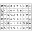 mega set of 60 hand written lettering positive vector image vector image