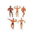 Mens physics bodybuilders vector image vector image