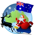 Merry Christmas Australia vector image