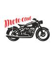 motorcycle motorbike silhouette moto club logo vector image
