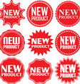New product signs set new product sticker set vector image vector image