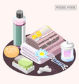 personal hygiene isometric composition vector image vector image