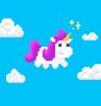 pixel art unicorn vector image vector image