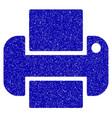 printer icon grunge watermark vector image