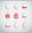 red easter eggs vector image vector image