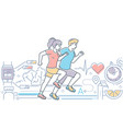 running - colorful line design style vector image vector image