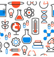 science education outline icon seamless pattern vector image vector image