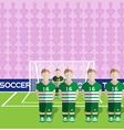Scotland Soccer Club Penalty on a Stadium vector image vector image