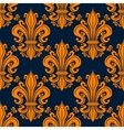 Seamless orange fleur-de-lis background pattern vector image vector image