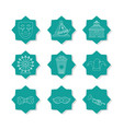 set of carnival icons vector image