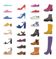 shoes and boots various types footwear mens vector image vector image