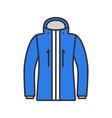 ski jacket color icon vector image vector image