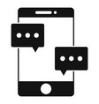 smartphone chat icon simple style vector image vector image