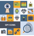 Spy gadgets flat icons composition poster vector image vector image
