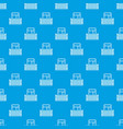 square balcony pattern seamless blue vector image