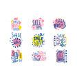 super sale set for label design sale shopping vector image vector image