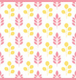 symmetrical seamless floral pattern with colorful vector image vector image