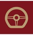The steering wheel icon Auto symbol Flat vector image