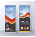 Vertical roll up banner template design for
