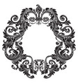 vintage baroque ornament retro pattern antique vector image