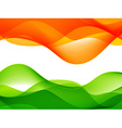 wave style indian flag design vector image vector image