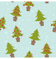Winter seamless pattern with christmas trees vector image