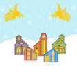 Winter Village Icon vector image vector image