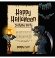 Witch party costumes happy Halloween vector image