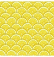 yellow lemon slices seamless pattern vector image vector image