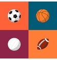 Various balls icons set Sport equipment vector image