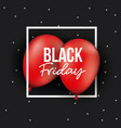 black friday poster with white frame over two red vector image