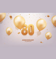 80th anniversary celebration vector image vector image