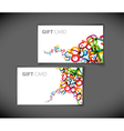 abstract numbers gift card vector image vector image