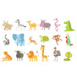 african animals set vector image vector image