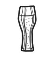 ale beer glass icon hand drawn style vector image vector image