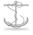 Anchor Lineart with Rope vector image vector image