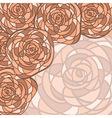 background with abstract roses vector image