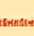 Beautiful big city view vector image
