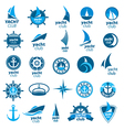 biggest collection of logos marina vector image vector image