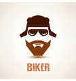 biker or rocker symbol stylized icon vector image vector image
